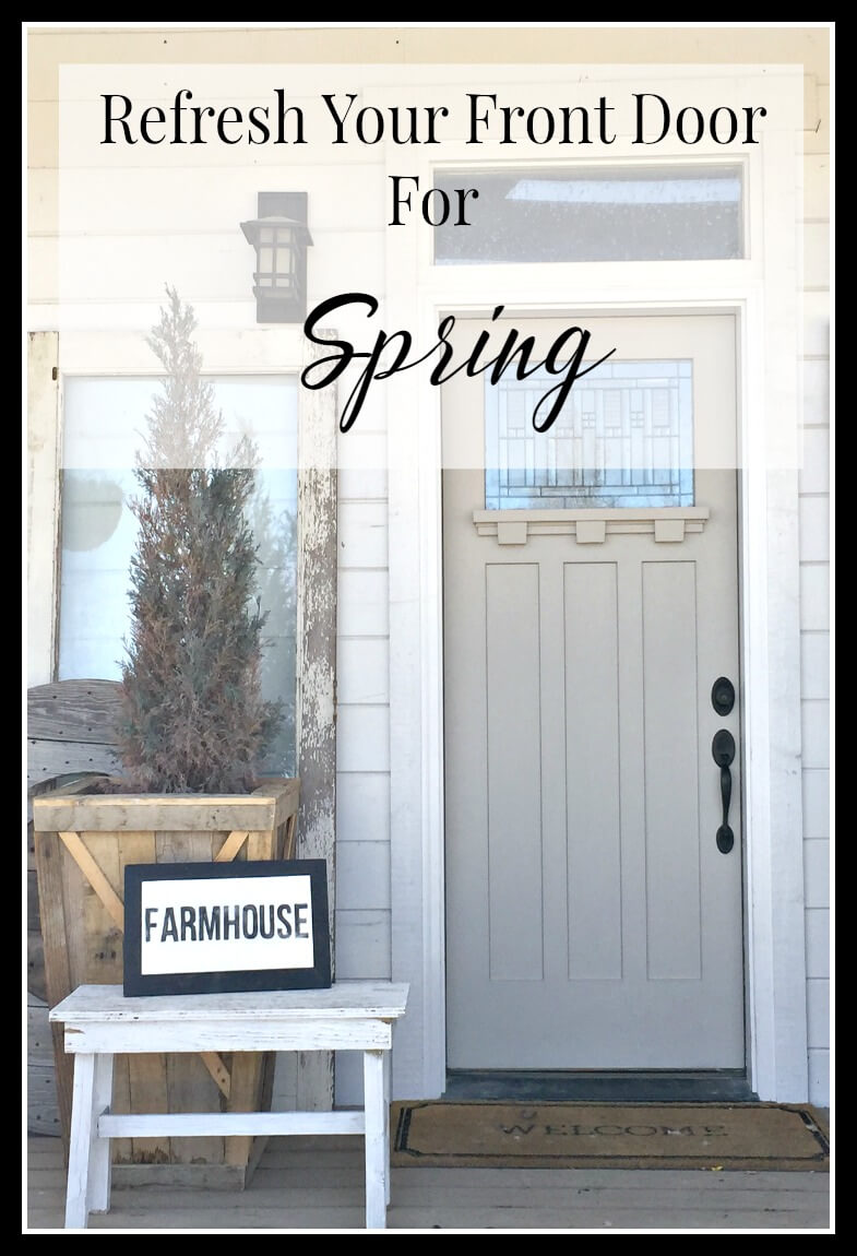 Refresh your front door for spring. | Twelveonmain.com