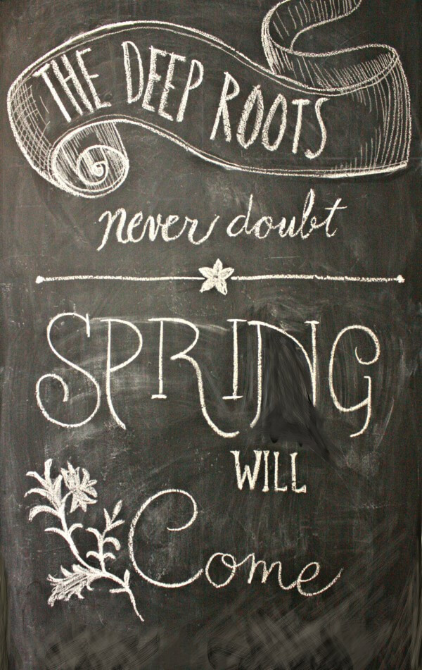 Spring Chalkboard Wall Art. Be inspired. | Twelveonmain.com