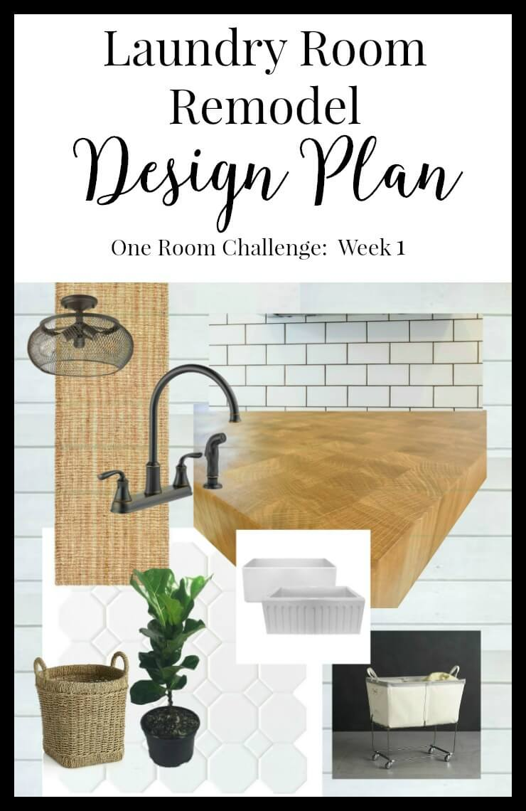 One Room Challenge Week 1: My Laundry Room Remodel. And so it begins! | Twelveonmain.com