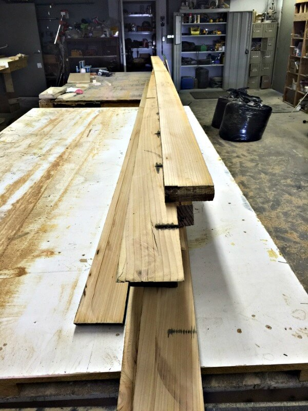 These reclaimed wood planks will soon be butcher block