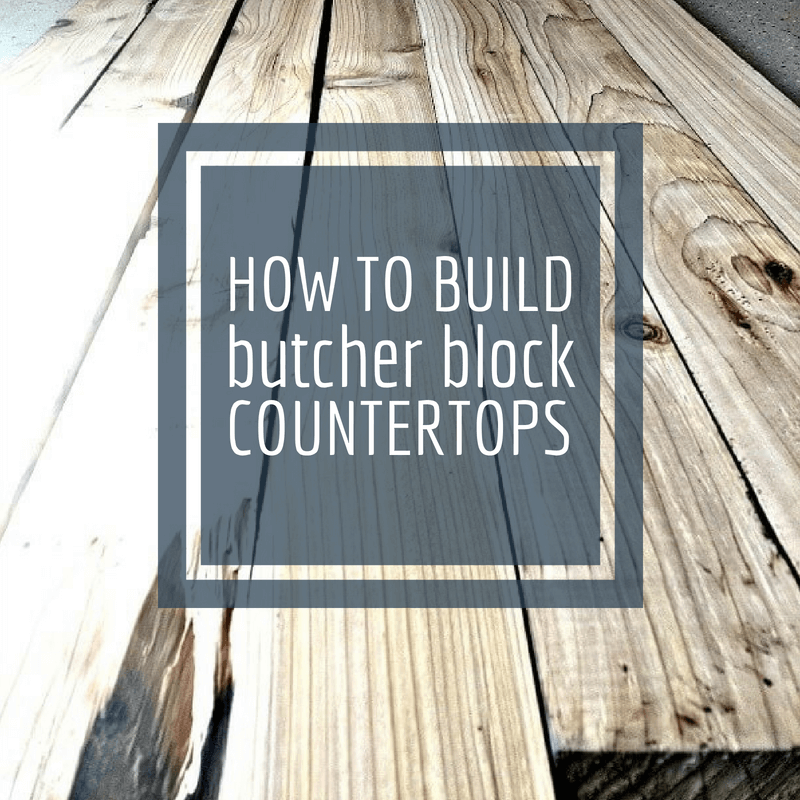 DIY Butcher Block Countertop from Old Trashed Lumber!