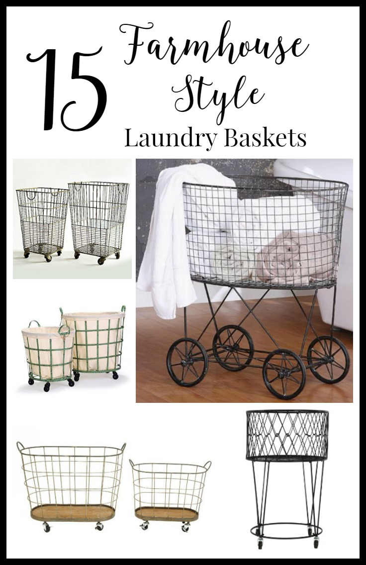 15 farmhouse style laundry baskets
