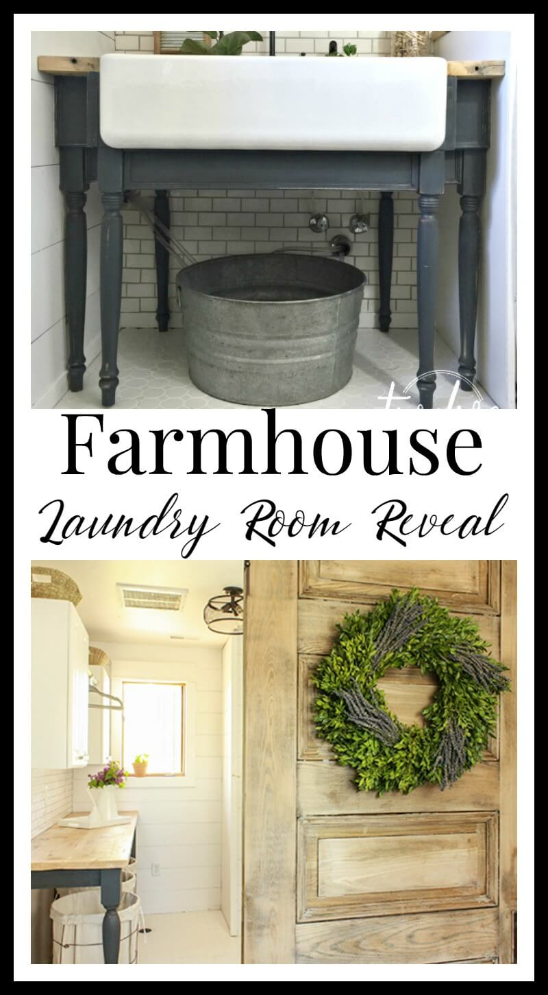 Farmhouse laundry room reveal