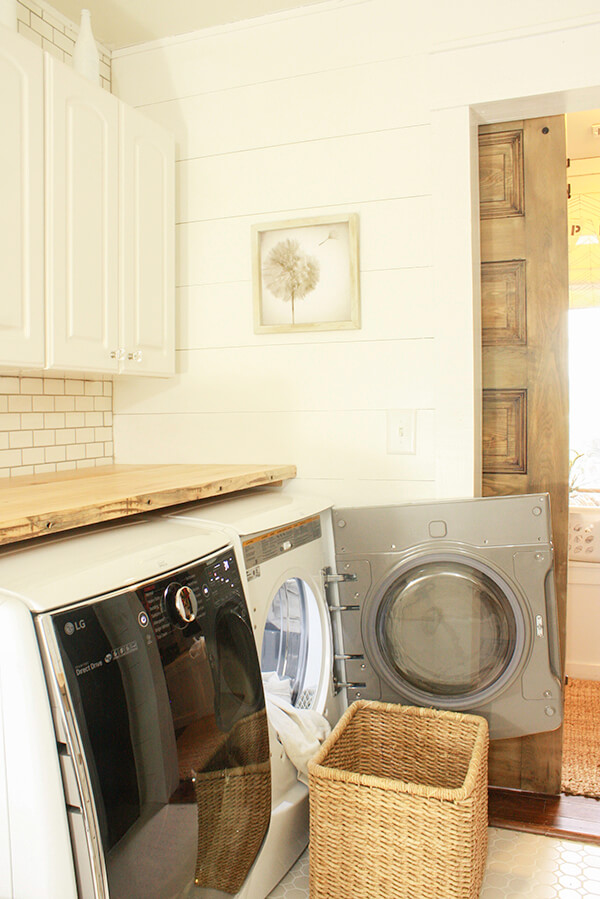 These LG appliances were the icing on the cake in this whole room laundry room remodel. Courtesy of Lowes and LG. Love them!