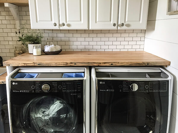 These LG appliances were the icing on the cake in this whole room laundry room remodel. Love them