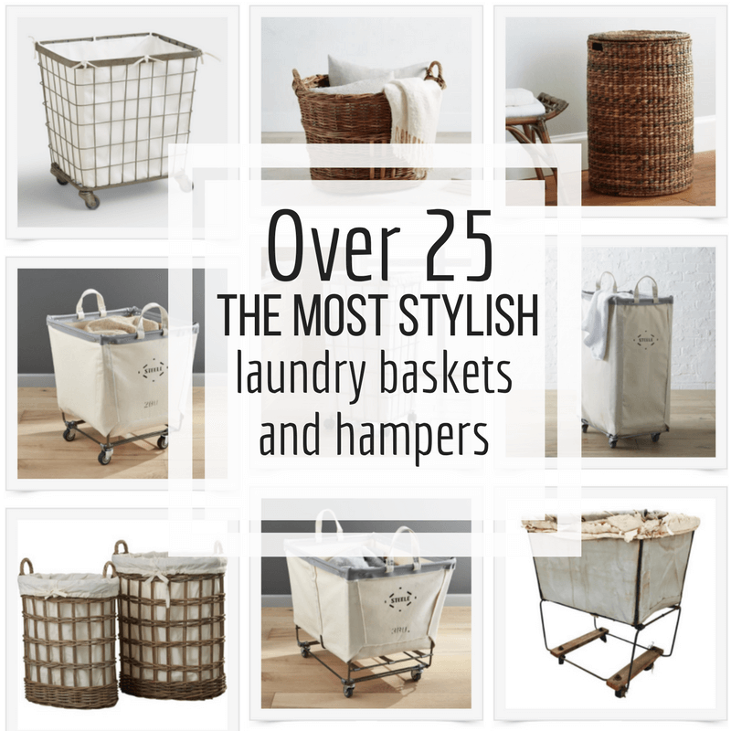 Over 23 of the most stylish laundry baskets and laundry hampers for your laundry room and home!