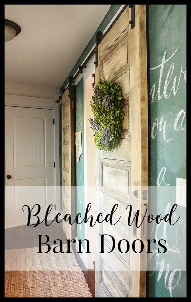 I love the look of bleached wood. Who knew the technique could be so simple. Love the finish on this barn door.