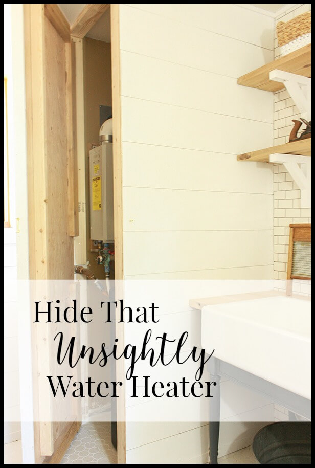 hide that waterheater 1