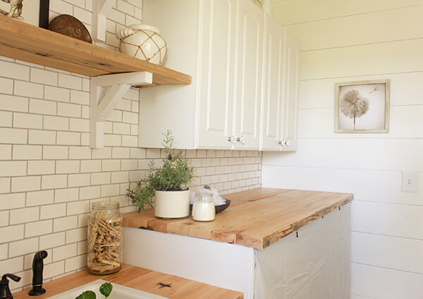 How to make your own butcher block counter tops! Its easier than you think!