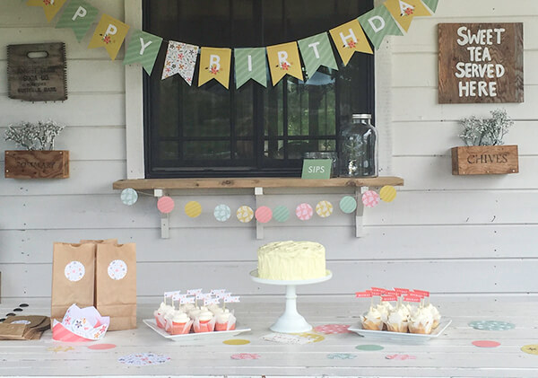 This botanical birthday party decor was the perfect addition to my little girls summer birthday party. | Twelveonmain.com
