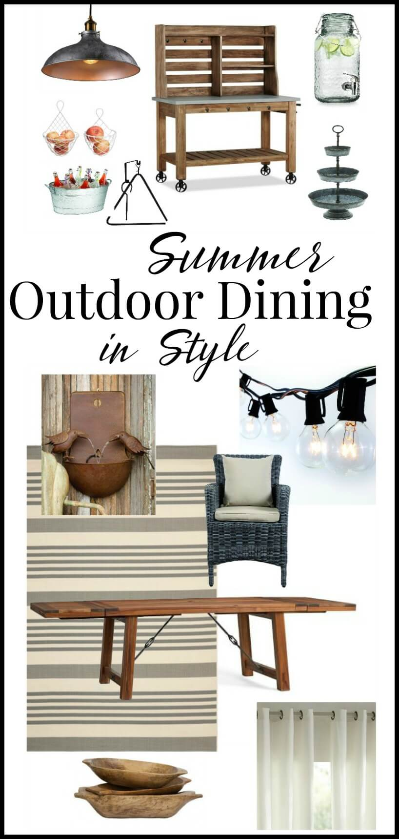 Farmhouse Style Outdoor Dining Space Ideas