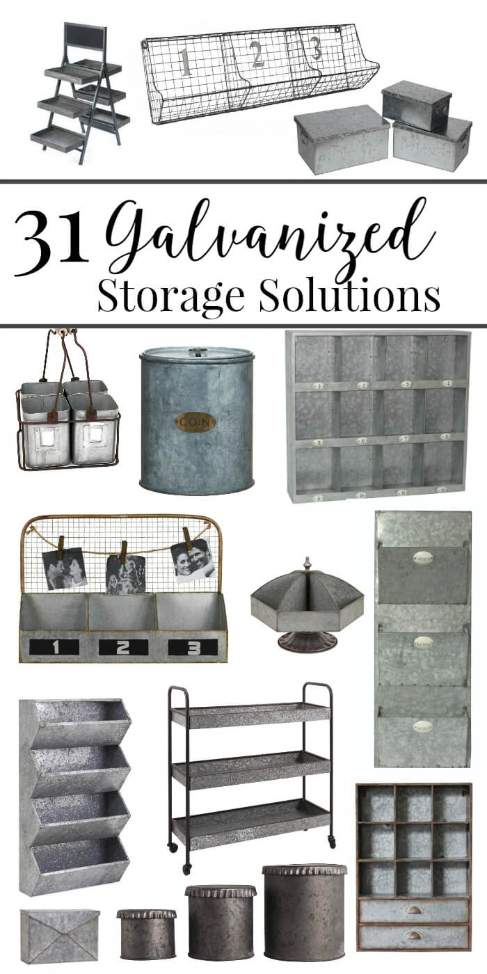 31 Galvanized storage solutions