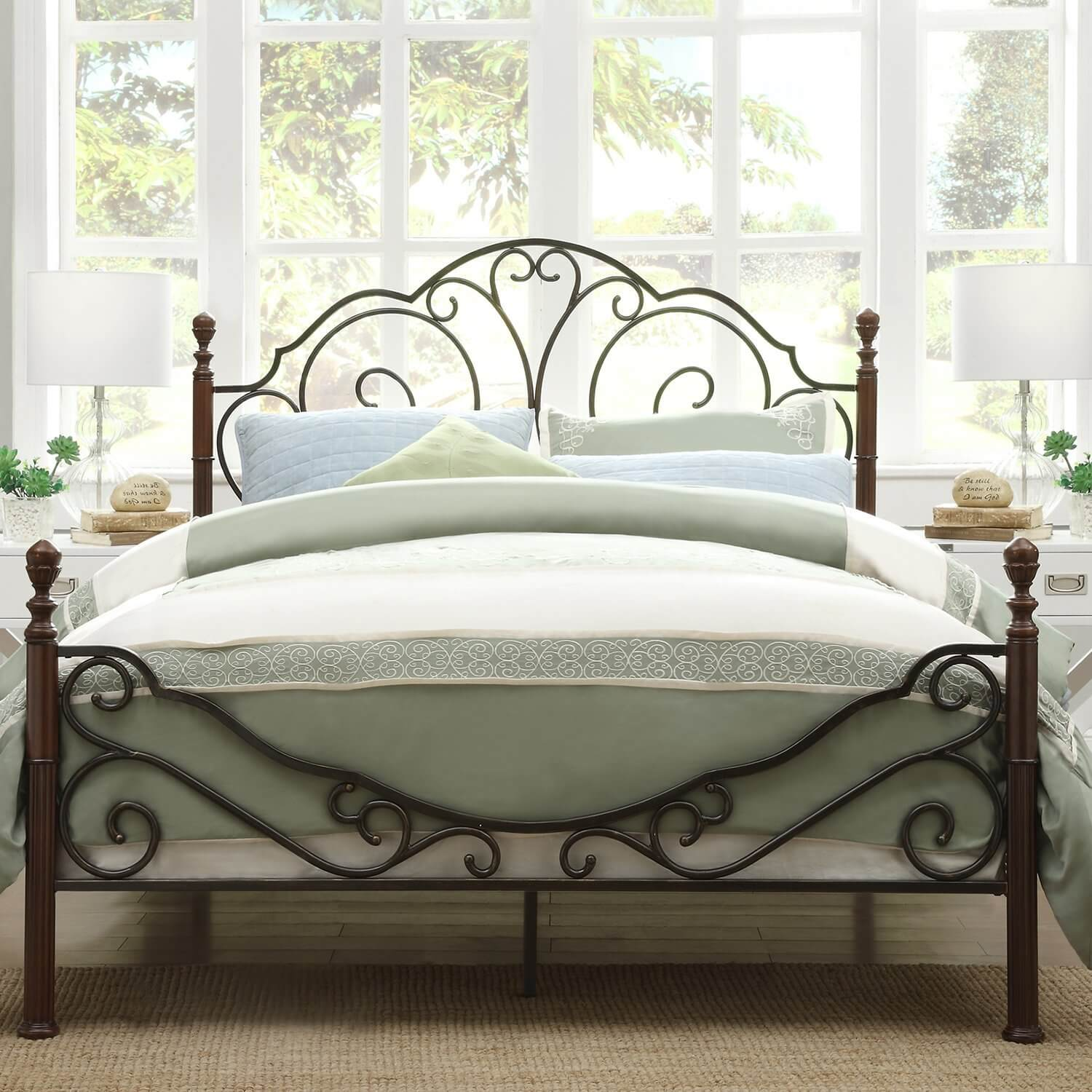 amazing wrought iron beds that can be found on amazon count me in - Wrought Iron Bed Frame