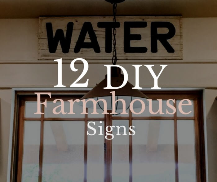 12 DIY Farmhouse Signs