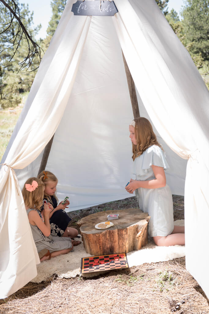 Outdoor wedding ideas, teepee for the kids