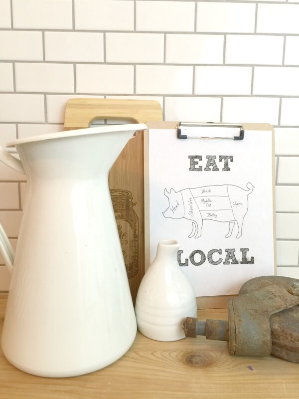 eat local printable