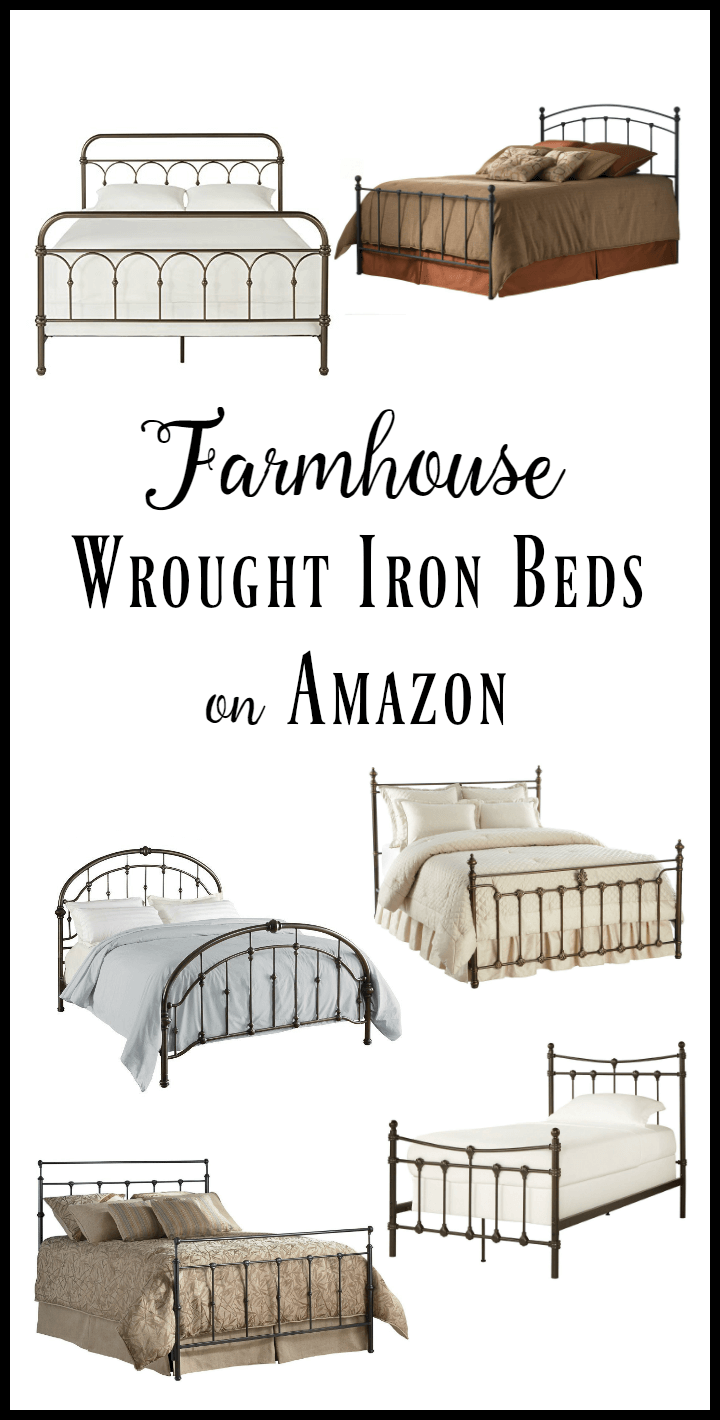 10 amazing wrought iron beds that are inexpensive and stylish as well! Love these metal beds!