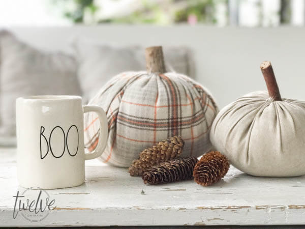 Super cute DIY velvet pumpkins!!