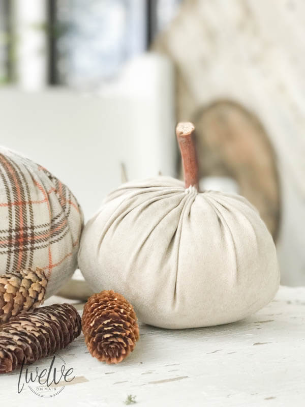 DIY velvet pumpkins for the win!