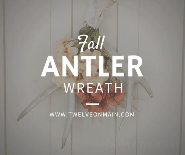 Jazz Up Your home With This Easy Antler Wreath!