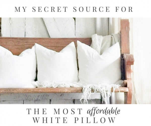 My Secret Source For The Most Affordable White Pillow