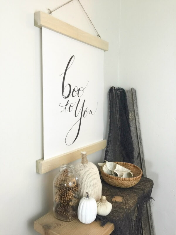Make your fall decor easier with this DIY reversible fall wall hanging