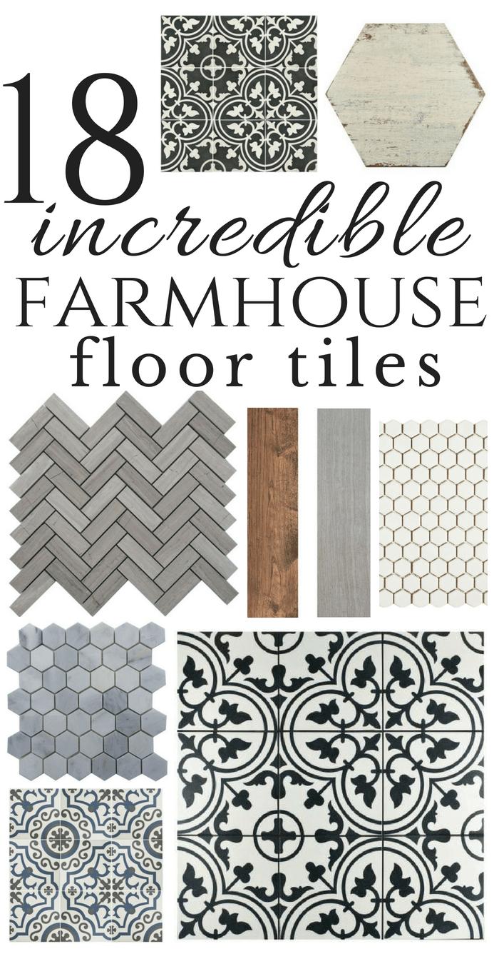 18 Incredible Farmhouse Bathroom Floor Tiles - Twelve On Main on Farmhouse Tile  id=15994