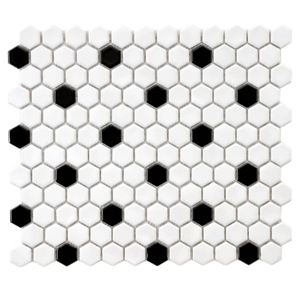 Gorgeous bathroom flooring ideas! Check out these hex tiles and more!