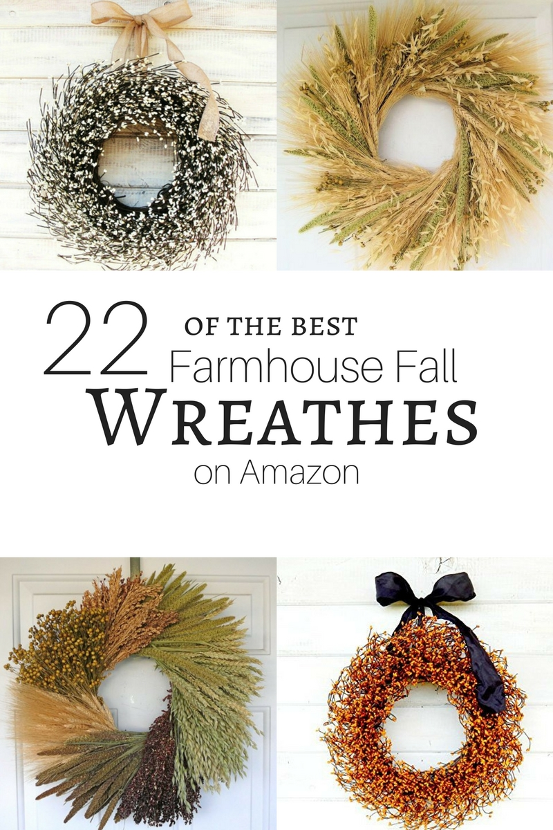 22 of the best farmhouse fall wreathes on Amazon!!