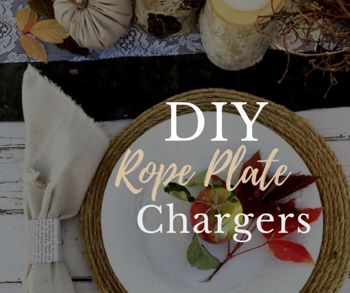 DIY Rope Plate Chargers
