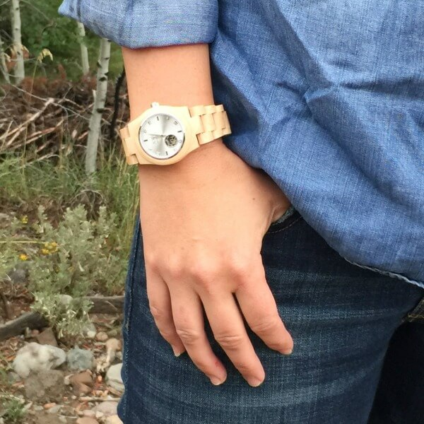 JORD wood watch | Cora Maple and Silver