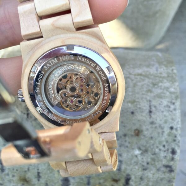 JORD Cora Maple and Silver Wood Watch