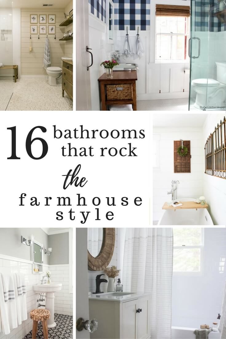16 bathrooms that rock the farmhouse style