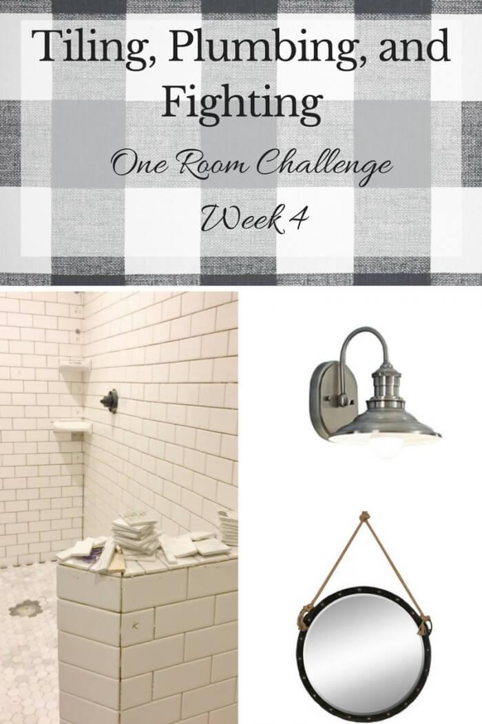 One Room Challenge Week 4- Master Bathroom Makeover
