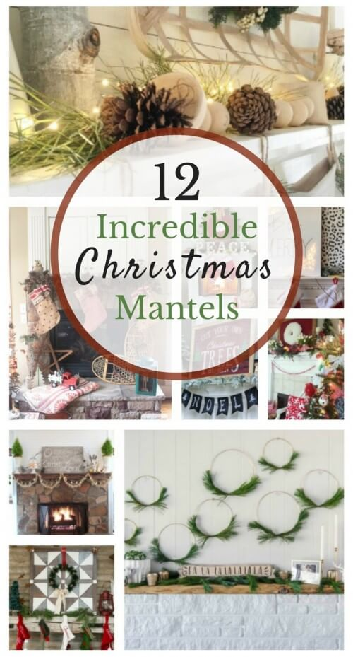12 Incredible Christmas Mantles. find lots of ideas for decorating your mantle for Christmas