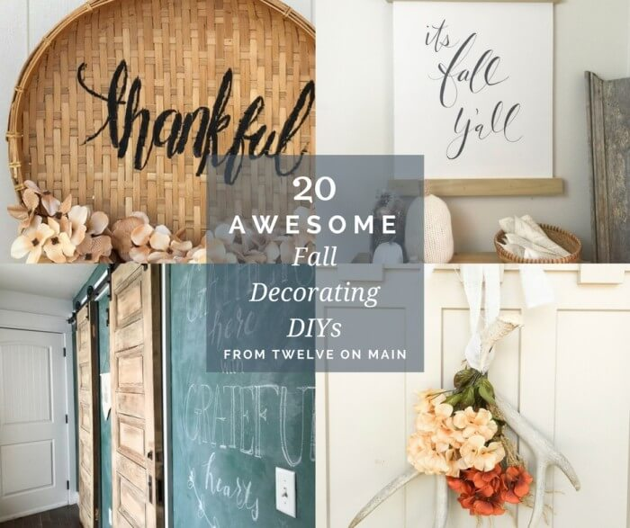 20  Awesome Fall Decorating DIYs by Twelve On Main