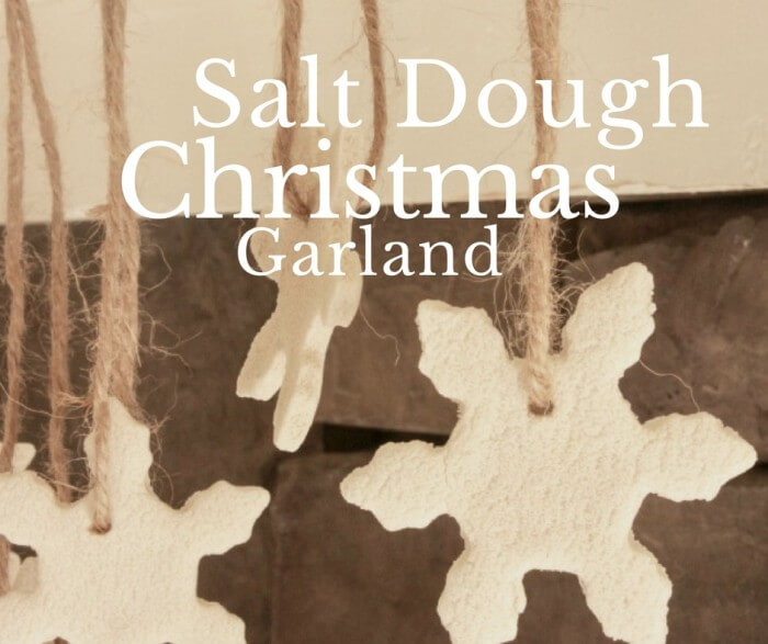 How to make easy salt dough ornaments for your Christmas tree, or turn them into an adorable garland!