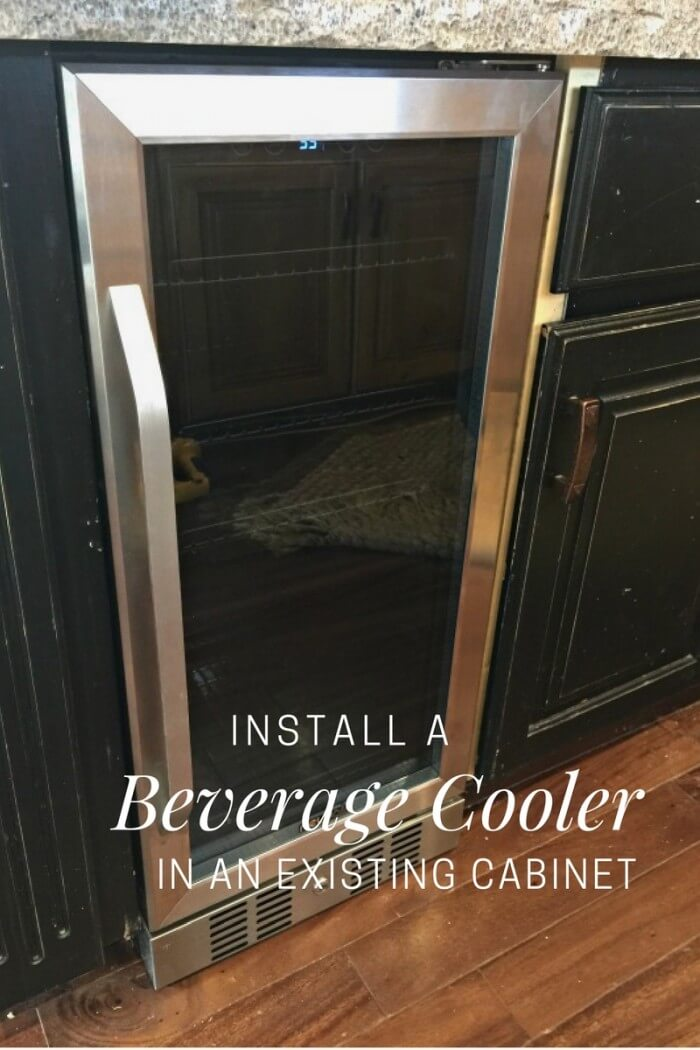Install A Beverage Cooler In An Existing Cabinet