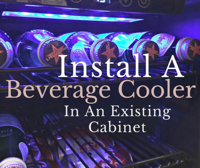 Install a beverage cooler in an existing cabinet!