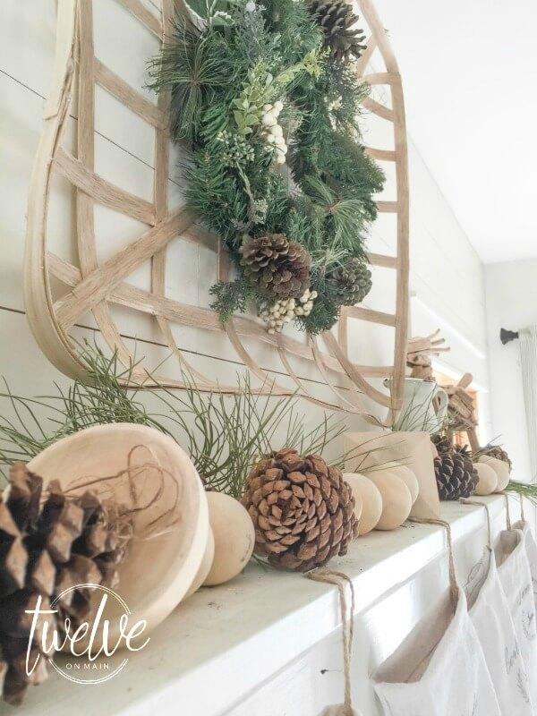 Farmhouse Style Christmas Mantel Twelve On Main