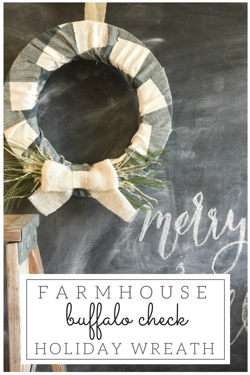 Buffalo Check Christmas Wreath.Farmhouse Style Buffalo Check Holiday Wreath Twelve On Main