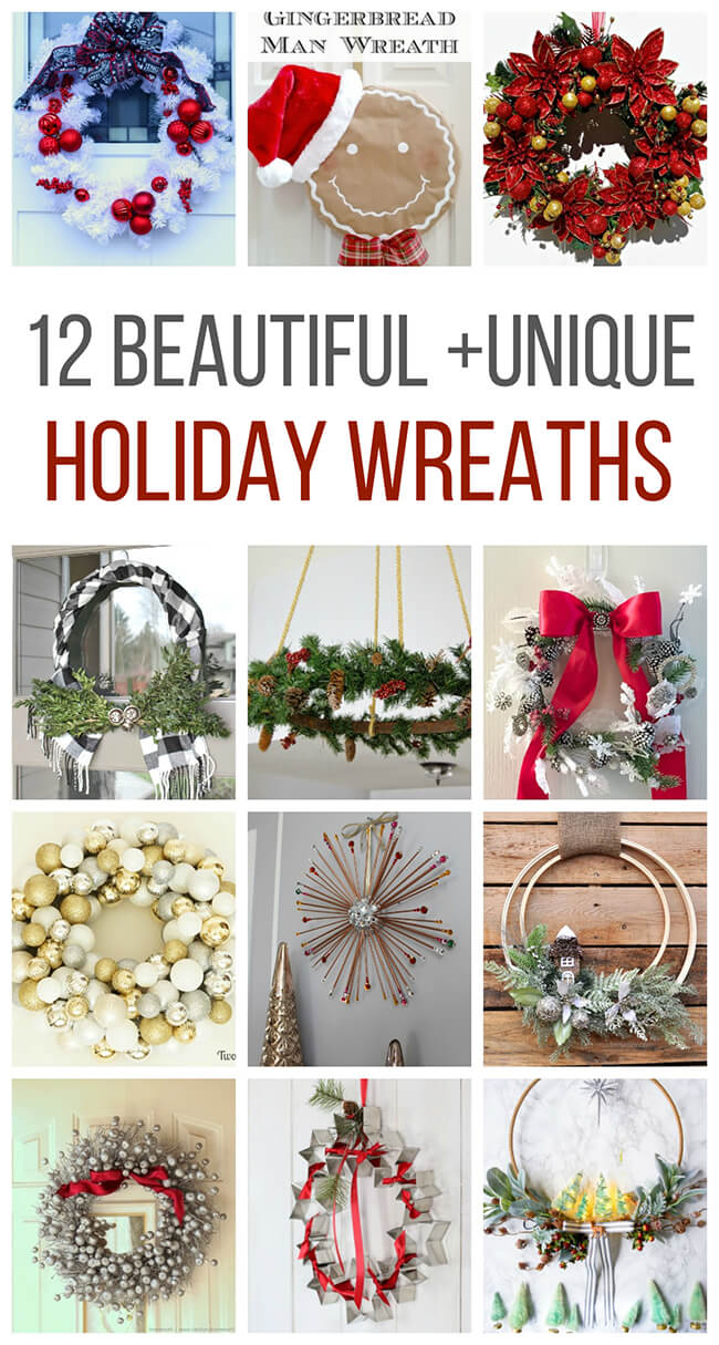 12 unique holiday wreath ideas that you can do in your home!