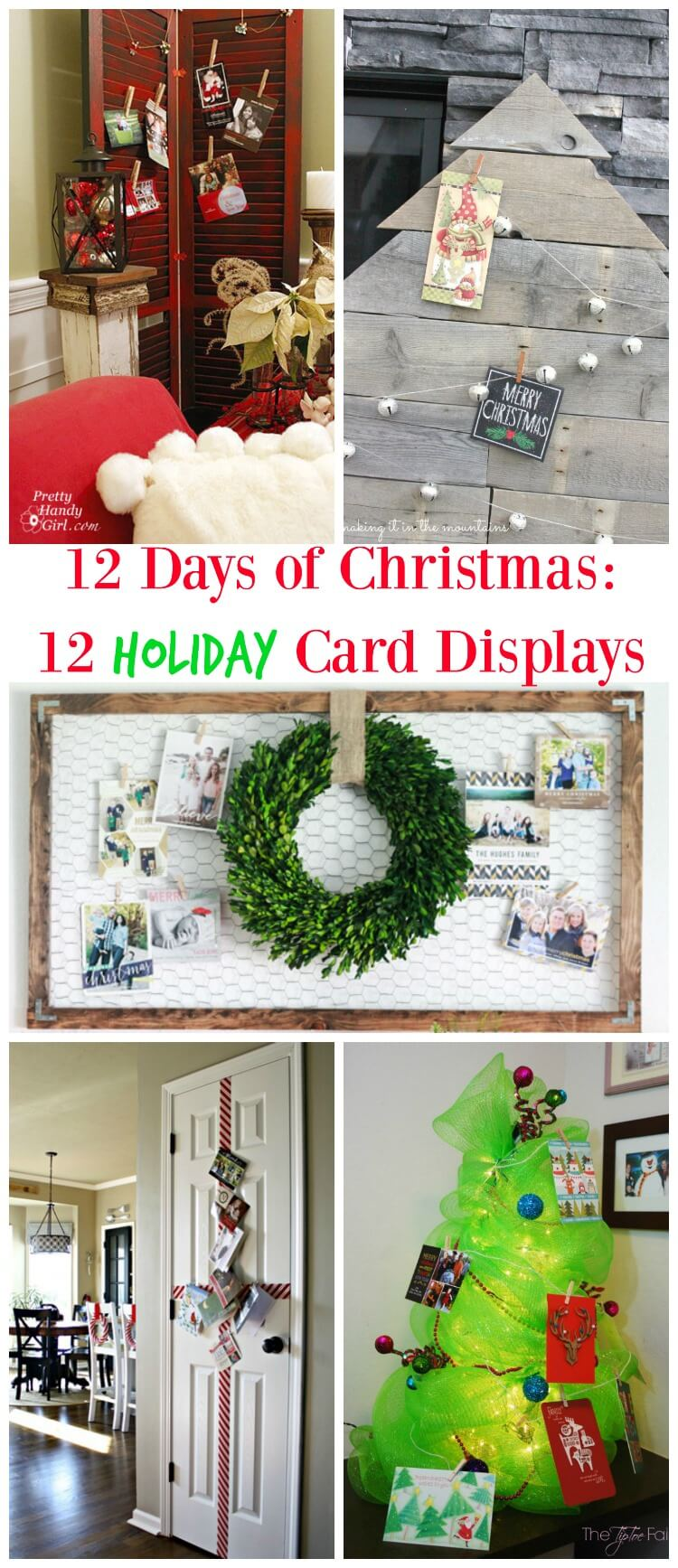 12 Cool Christmas Card Display Ideas - Twelve On Main