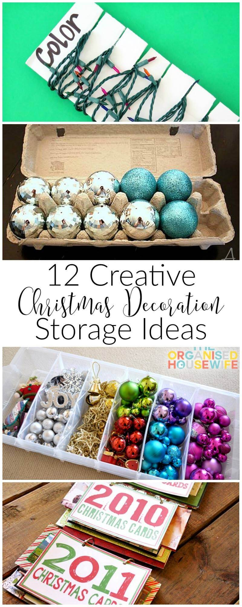 12 creative Christmas decoration storage ideas that will help you conquer the after Christmas mess!