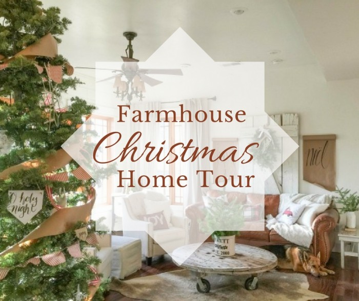 are you a fan of farmhouse style check out this farmhouse christmas home tour - Farmhouse Christmas