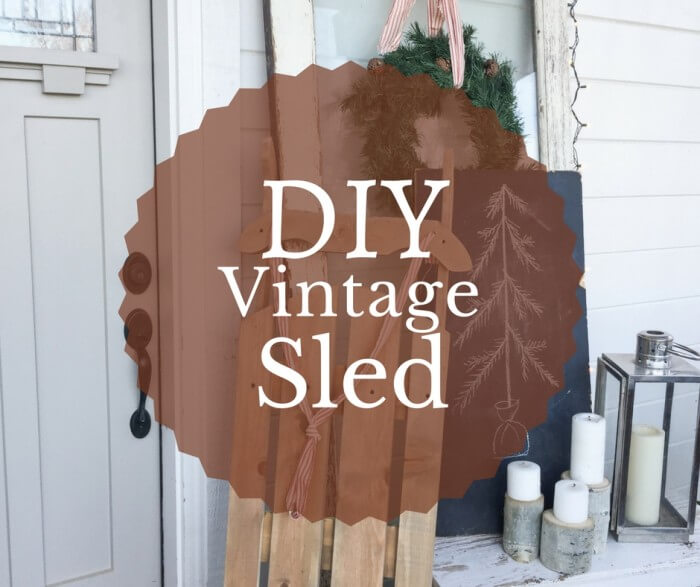 Diy Vintage Wooden Sled Twelve On Main