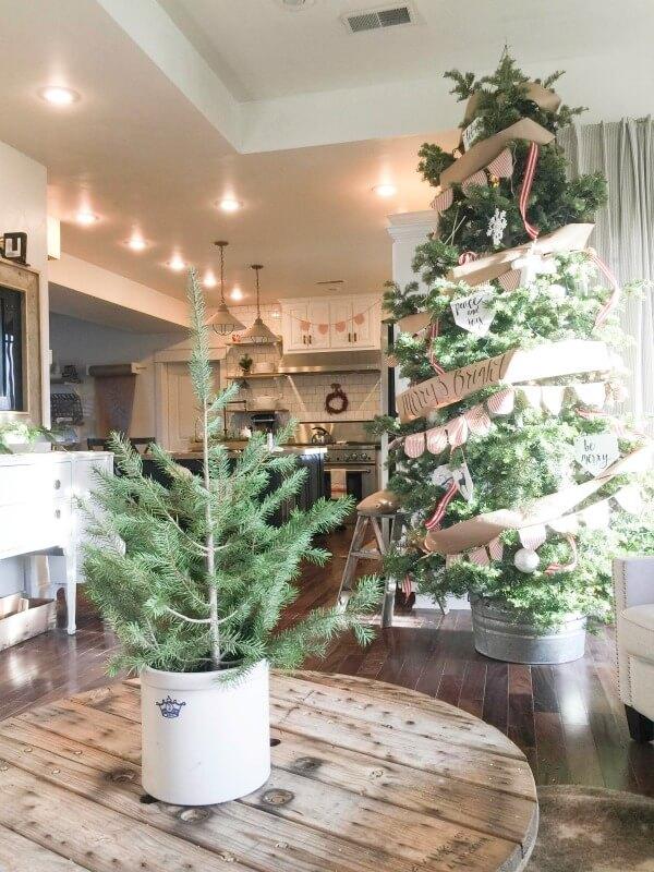 farmhouse christmas home tour - Farmhouse Christmas Tree