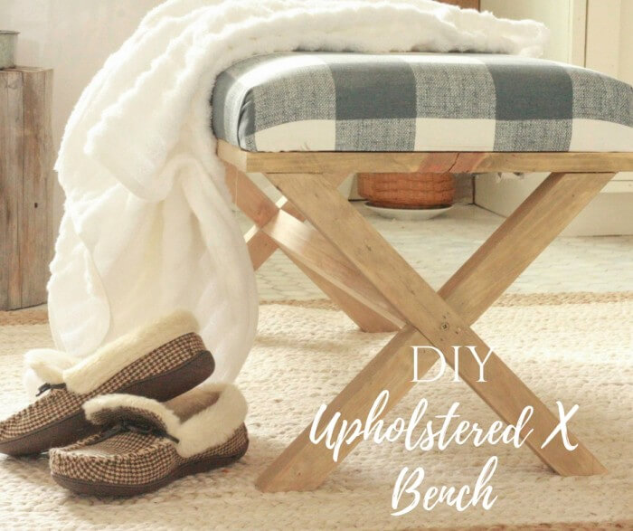 DIY Upholstered X Bench