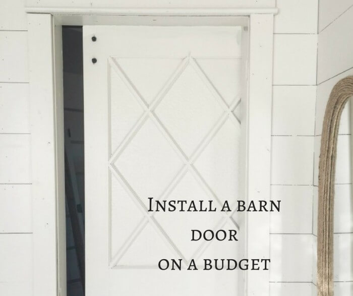 Install a Barn Door on a Budget