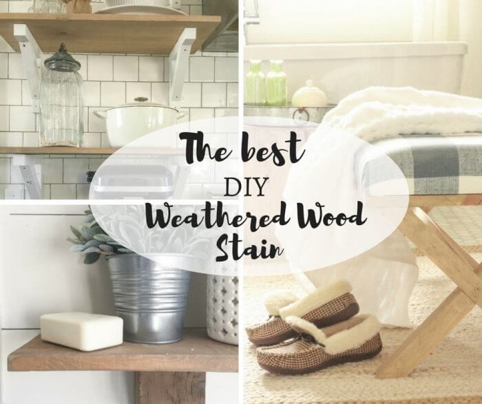 The Best DIY Weathered Wood Stain